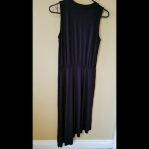 ⭕⭕⭕ Three Dots black asymmetric maxi dress